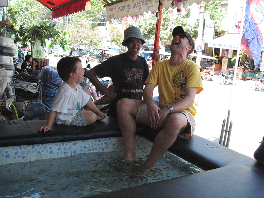 Cambodia with kids – a  tale of a Fish Massage in Siem Reap