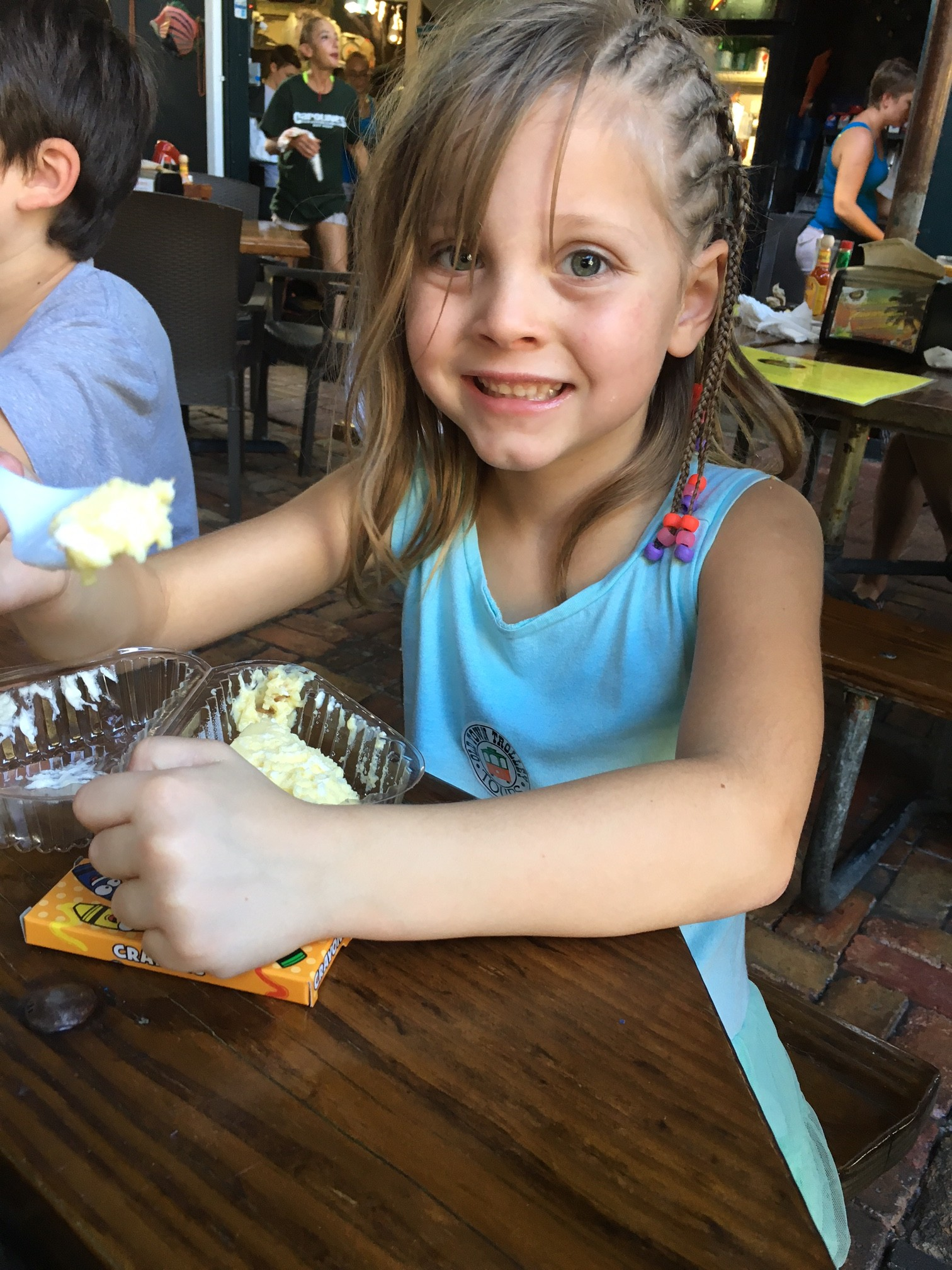 Eating in Key West with kids
