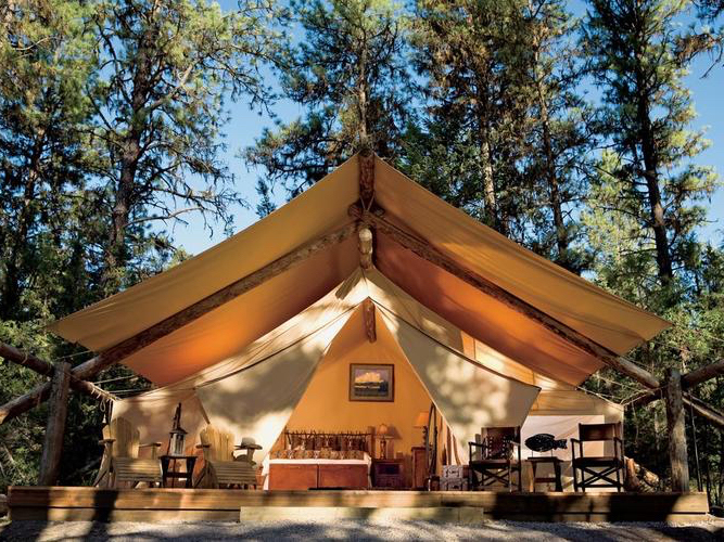 where to go glamping with family