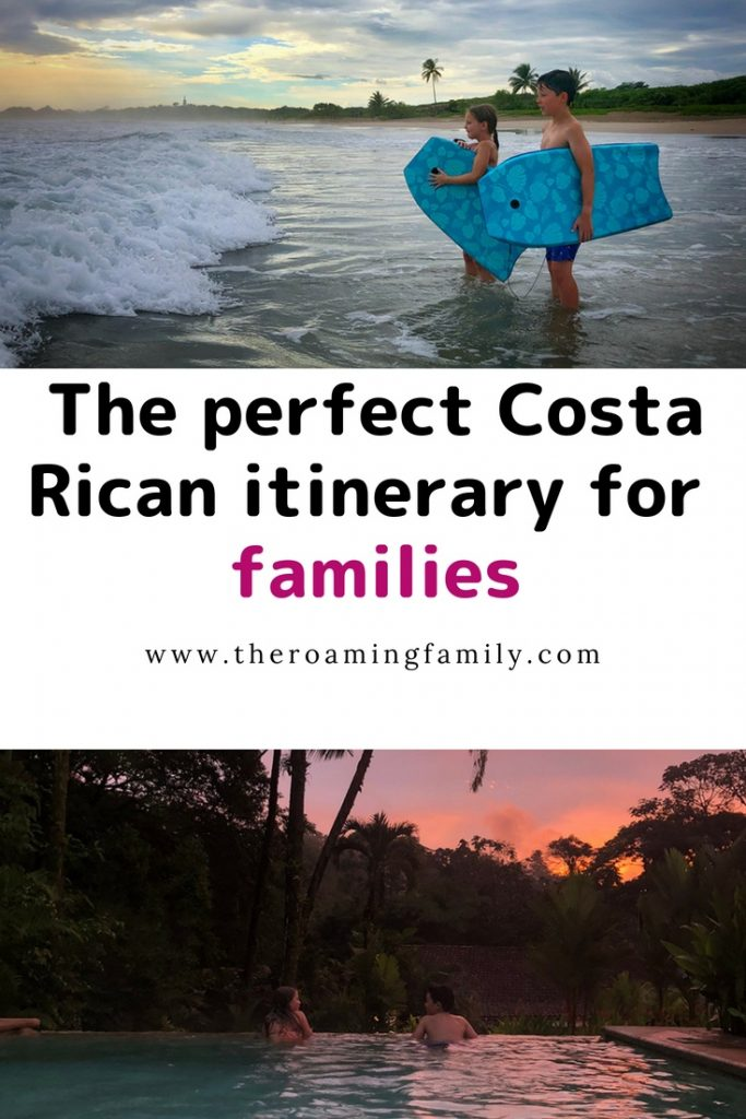 A family friendly Costa Rican itinerary. The perfect itinerary for a family going to the beach and the jungle!